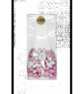 Dragées Mandeln mit Zuckerguss weiss / rosa - 500gr